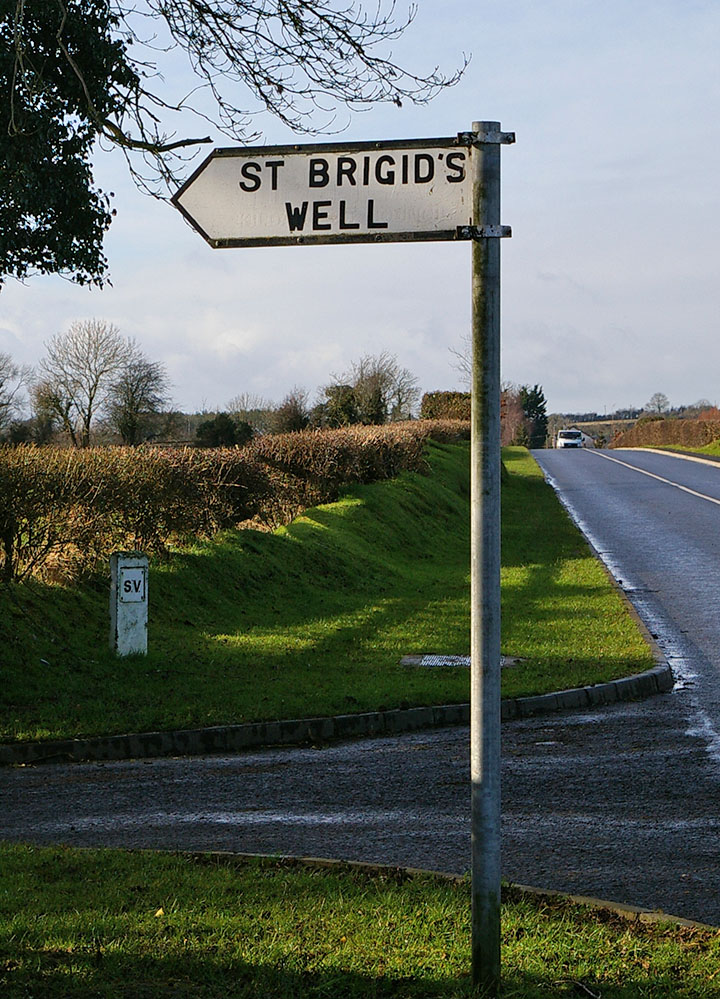 Signpost to St Brigid's Well